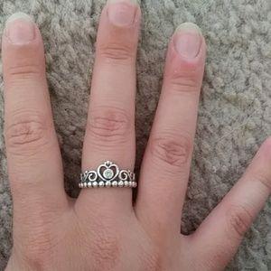 """EUC Pandora """"My Princess"""" size 7 ring"""